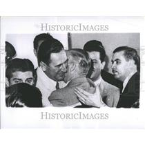 1956 Press Photo President Juan D Peron Argentina