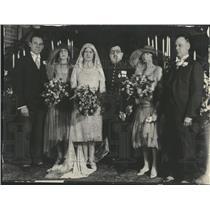 1928 Press Photo Greek Diplomat Diamantopoulos Weds - RRT58763