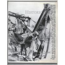 1967 Press Photo Allenby Bridge Occupied Jordan refuge - RRT82367