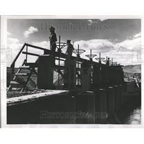 1953 Press Photo Jordan Canal Project Israeli Police