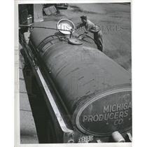 1946 Press Photo Milk Transport Tank Truck Sebewaing