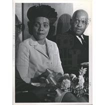1966 Press Photo Coretta Scott King W. O. Mays Denver - RRT64551