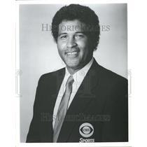 1996 Press Photo Greg Gumbel CBS Pre-game Sportscaster - RRT06537