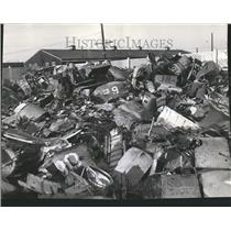 Press Photo Planes Being Scrapped Tractor Fragments - RRT09053