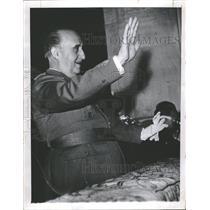 1957 Press Photo Spain's Gen. Francisco Franco - RRT64499