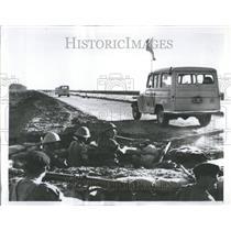 1956 Press Photo United Nations Army Suez Canal Egypt