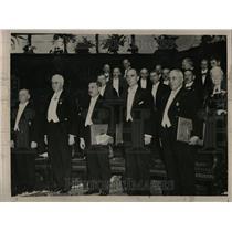 1936 Press Photo Nobel Award Winners Stockholm Gustav - RRT33447
