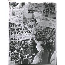 1962 Press Photo Gen. Franco at dedication ceremony - RRT64459