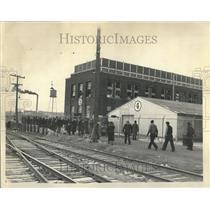 1937 Press Photo Fansteel Metallurgical Plant Strike