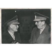1955 Press Photo Pres Juan Peron Argentina Gen Lucero