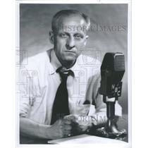 1953 Press Photo Joseph C Harsch Commentator Newsmen