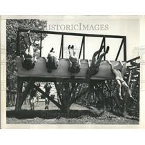 1948 Press Photo Tough Physical Test Navy Plebes - RRT21935