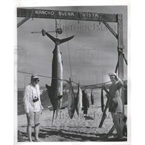 1956 Press Photo Columnist Floyd Laurine Rancho Bueno - RRT66715