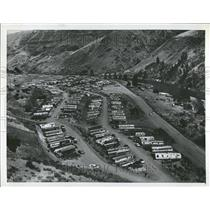 1957 Press Photo Brownlee Oxbow Trailer Town In Idaho - RRT14691