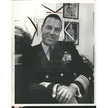 1970 Press Photo Adm James Calvert Profession Navy