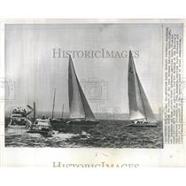 1964 Press Photo Yacht Race Winner Runner Up Oyster Bay - RRT92741