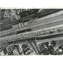 1966 Press Photo Kennedy Expressway Aerial Traffic View