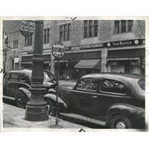 1938 Press Photo Automobile Parking Detroit - RRT11463