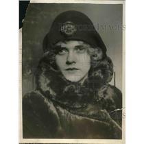 1925 Press Photo Funny Face hat Paris