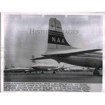 1956 Press Photo NY & Boston passenger planes at Pjila. Untl airport - nea99053