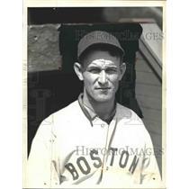 1935 Press Photo Red Sox 2nd BAseman Dib Williams - neb10972