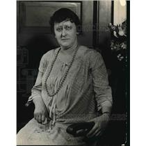 1925 Press Photo Antionette Callagham, Chief Probabation Officer