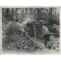 1937 Press Photo Wagon Miner Sympathy Mines Station - RRS17379