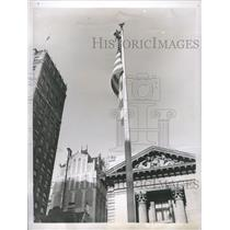 1937 Press Photo Legion Naire climbed the top flagpole - RRS30819