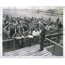1951 Press Photo Air Force Officers Listen Instructions - RRS89071