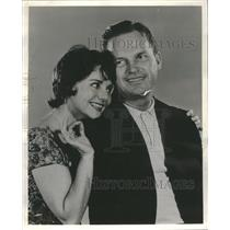 1961 Press Photo Dolores Sutton Ralph meker Rhinocers - RRS52535