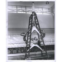 1959 Press Photo Circus MSU Roman Ladder - RRS75033
