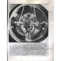 1956 Press Photo Rocket Vehicle Spacecraft Aircraft - RRS35423