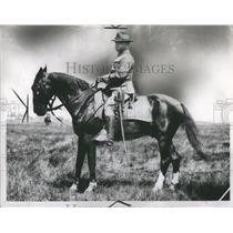 1938 Press Photo MajJoseph LKraemer Mich National Guard - RRS95629