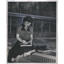 1957 Press Photo Karen Day University Student - RRS47533