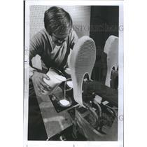 1976 Press Photo Goodyear Plastisol Resin Slipper Soles - RRS37687
