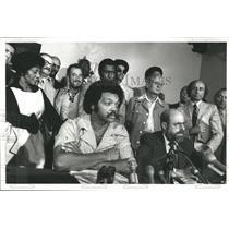 1977 Press Photo Jesse Louis Jackson, Sr. press con - RRS26997