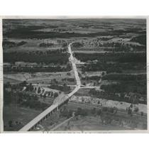 1937 Press Photo Aerial One Mile View Route 54 Chicago - RRS76835