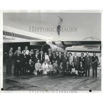 1971 Press Photo United States Japanese TravelersFlight - RRS18309