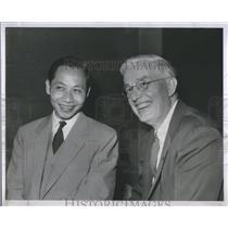 1956 Press Photo VietNam University Wayne Univ Pres - RRS84617