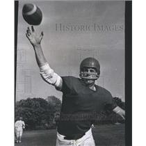 1967 Press Photo Prep Football Gary Lange Maine South - RRS23375