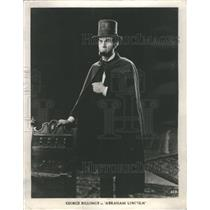 """1932 Press Photo George Billings in """"Abraham Lincoln"""" - RRS67665"""