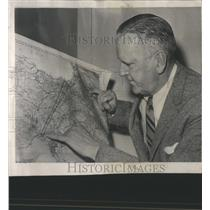 1959 Press Photo Lincoln White Flight Map American C13 - RRS88629