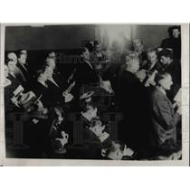 1928 Press Photo Coal miners in a meeting - nea46763