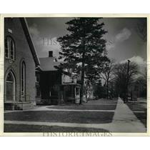 1938 Press Photo View of The Homes of Ford Auto Workers of Dundee, Michigan