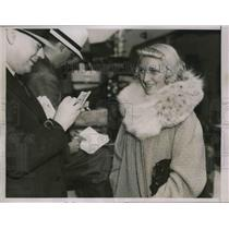 1937 Press Photo Miss Mazel Walston of Pennsylvania