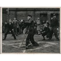 1940 Press Photo Crippled Children open Softball Season played in Chicago.