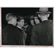 1936 Press Photo Eddie Collins, Mickey Cochrane, Dutch Reuther, Bing Miller