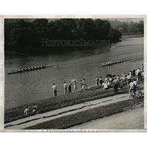 1943 Press Photo Fairmont Rowing Assn at Amateur races in Pa. - nes02902