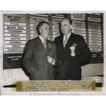 1951 Press Photo Ford Frick MLB Commissioner George Trautman Minor League Pres.