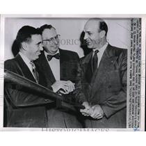 1952 Press Photo Phillies Catcher Andy Seminick Headed to Cincinnati Reds